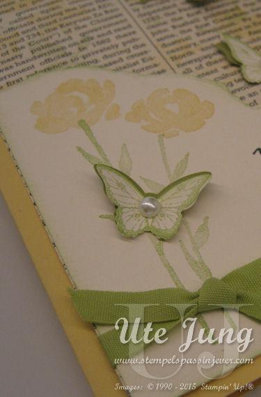 """Schmetterlingsstempel aus dem Stempelset """"Papillon Potpourri"""", ausgestanzt mit der passenden Stanze """"Mini-Schmetterling"""""""