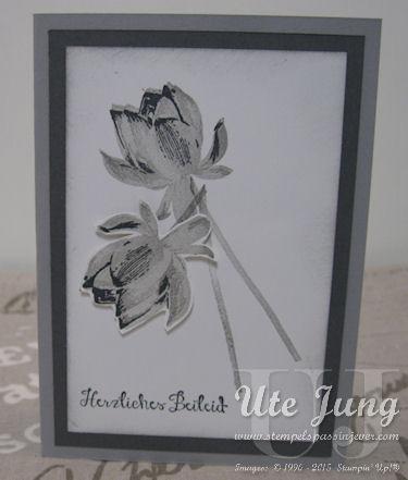 """Trauerkarte mit der Blüte aus dem Sale-A-Bration Stempelset """"So froh"""""""