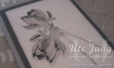 """Lotusblüte aus dem Sale-A-Bration Stempelset """"So froh"""" in 3 Stufen gestempelt"""
