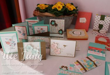 Eine Aufgabe war die Herstellung von Geburtstags- und Baby- oder Kinderkarten