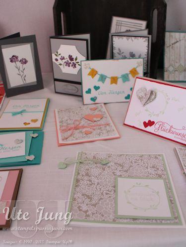Trauer-, sowie Hochzeits- und Danksagungskarten waren ein Thema