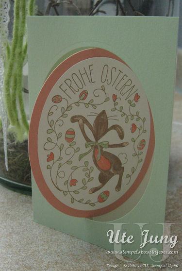 Osterkarte mit dem Osterhasengruß