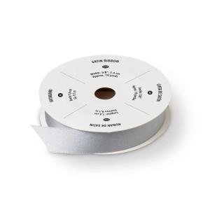 """134548 5/8"""" (1,6 cm) Satinband Silber. Statt 8,50 € jetzt 6,38 €"""