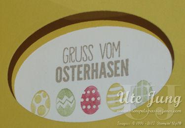 """Gruß und Ostereier aus dem Stempelset """"Ei, ei, ei!"""""""
