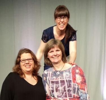 Kristin Niesmann, Charlotte Harding und ich