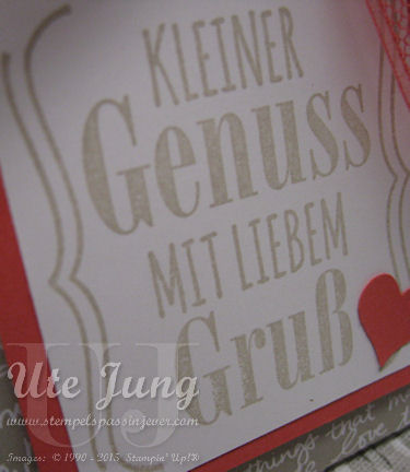 """Spruch aus dem neuen Stempelset """"Mit Liebe geschenkt"""""""