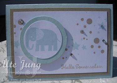 Babykarte mit dem Stempelset Perpetual Birthday Calendar