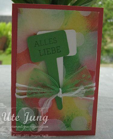 """Blumenstecker geschnitten mit der Framelits Form """"Aus meinem Garten"""""""