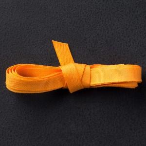 """134565 1/4"""" (6 mm) Baumwollband in Kürbisgelb. Statt 7,50 € jetzt 5,63 €"""