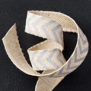 """138403 5/8"""" (1,6 cm) Geschenkband mit Fischgrätmuster in Schiefergrau. Statt 8,50 € jetzt 6,38 €"""