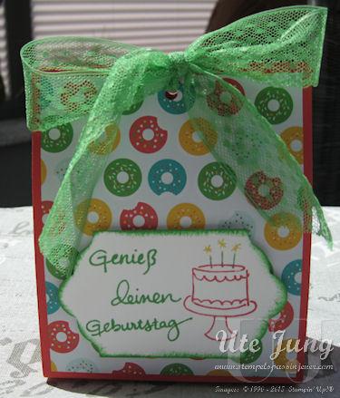 Geburtstagsverpackung mit vielerlei Möglichkeiten