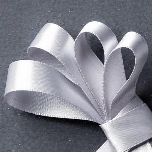 """134548 5/8"""" (1,6 cm) Satinband in Silber. Statt 8,50 € jetzt 6,38 €"""