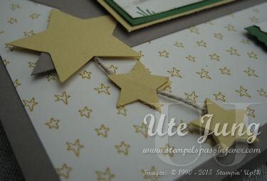 """Sterne mit den Stanzen """"Mittelgroßer Stern"""" und """"Itty Bitty Akzente"""""""