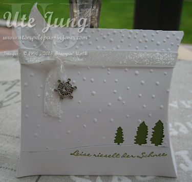 Die neue Stampin' Up! Thinlits Form Pillow Box, Quadrat