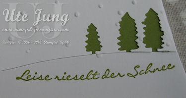 """Stempelset """"Kling Glöckchen"""" mit passender Edgelits Form """"Schlittenfahrt"""""""