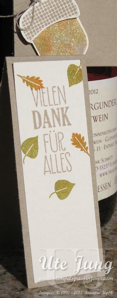 """Gruß aus dem Stempelset """"Herbstfarben"""", Blätter aus dem Set """"Zwischen den Zweigen"""""""