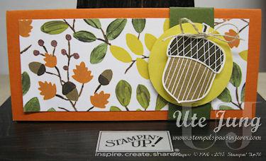 Herbstlicher Stampin' Up! Gutschein, eine nette Geschenkidee!