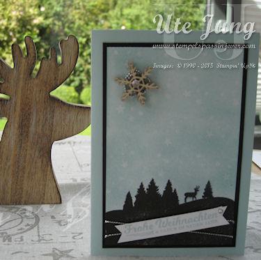 """Karte mit dem Stempelset """"Schöne Feiertage"""""""