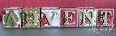 Adventsdeko aus den Mini-Geschenkschachteln