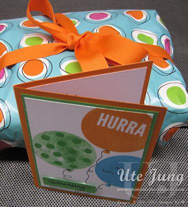 """Geburtstagskarte mit dem Stempelset """"Wir feiern"""""""