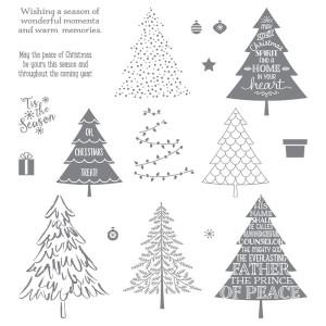 139728 Stempelset Klarsicht Peaceful Pines Englisch. Statt 31,00 € jetzt 23,25 €