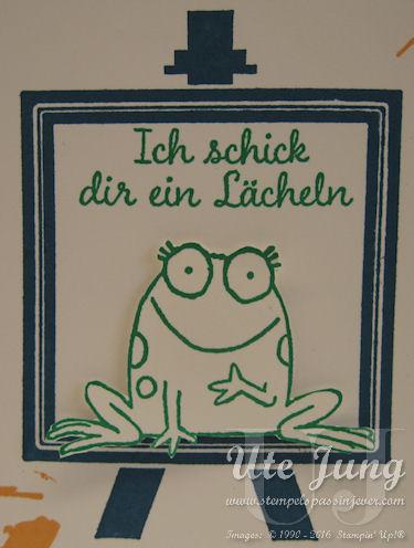 Geburtstagskarte Frosch1