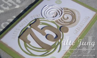 Swirly Bird Geburtstagskarte