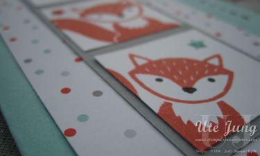 """Passendes Designerpapier gibt es zum Stempelset """"Foxy friends"""""""