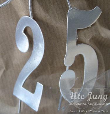 """""""25"""" ausgestanzt mit den Framelits """"Große Zahlen"""" aus Silberfolie"""