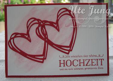 """Hochzeitskarte mit der Thinlit """"Grüße voller Sonnenschein"""""""