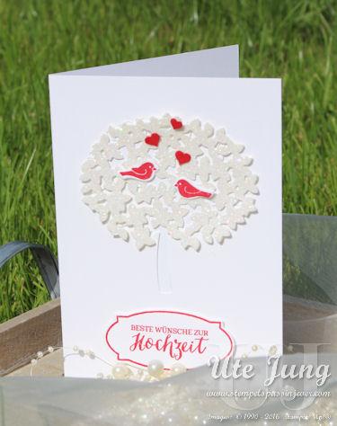 """Hochzeitskarte mit Stampin' Up! """"Wald der Worte"""""""