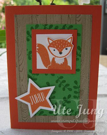 "Kinderkarte mit dem Stempelset ""Foxy friends"""