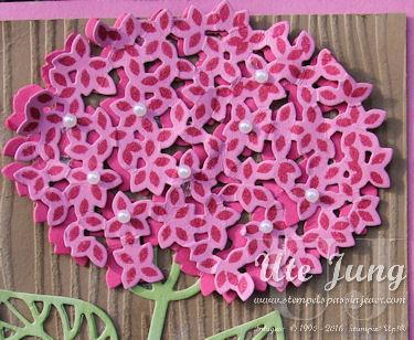 """Hortensienblüte aus dem Stempelset """"Wald der Worte"""""""