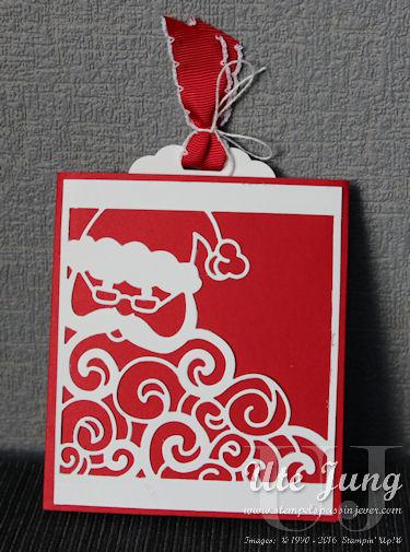 """Ausziehkarte mit der Thinlits Form """"Weihnachtsmann"""""""