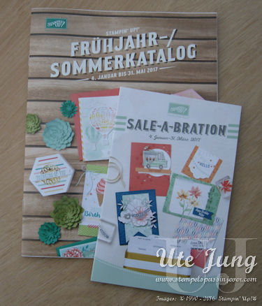 Hol Dir den neuen Frühjahr-/ Sommerkatalog 2017 und die Sale-A-Bration Broschüre
