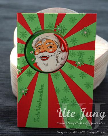 Weihnachtskarte mit schokoladigem Inhalt