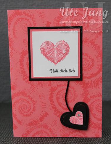 """Valentinskarte mit dem Stampin' Up! Stempelset """"Tie Dyed"""""""