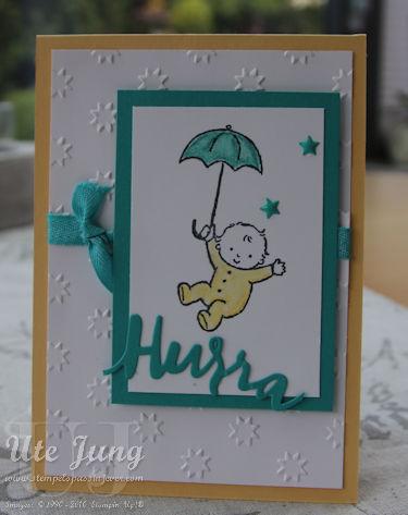 """Babykarte mit dem Stempelset """"Moon Baby"""""""