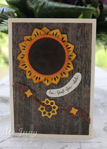 Sonnenblume mit Schönheit des Orients
