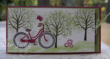 """Stampin' Up! Stempelsets """"Bike ride"""" und Baum der Freundschaft"""