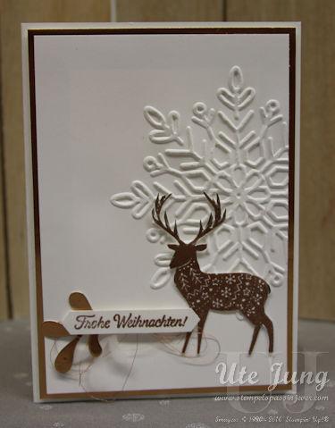 """Weihnachtskarte mit dem Aktionsset für Gastgeberinnen """"Freude im Advent"""""""