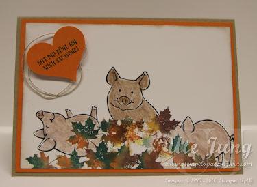 """Stempelset """"Glücksschweinchen"""" und """"Jahr voller Farben"""""""