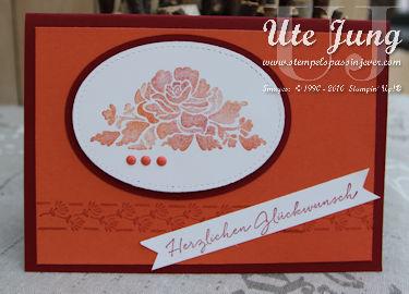 Geburtstagskarte Florale Grüße