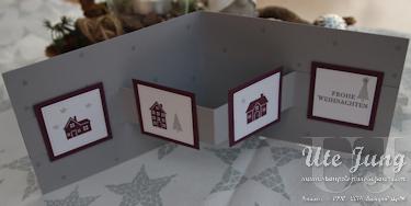 """Häuschen aus dem Stempelset """"Weihnachten daheim"""""""