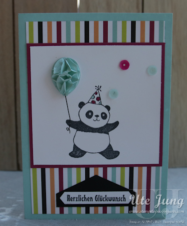 "Sale-A-Bration Stempelset ""Party Pandas"""