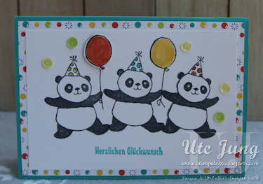 "Sale-A-Bration Stempelset ""Party-Pandas"""