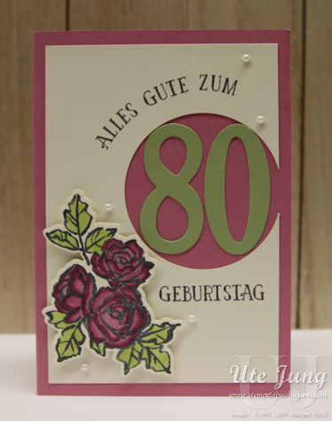 """Karte gestaltet mit Stampin' Up! """"So viele Jahre"""" und """"Blütentraum"""""""