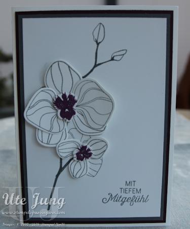 Trauerkarte mit dem Stempelset Orchideenzweig