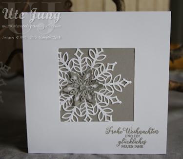 Schlichte Weihnachtskarte Mit Dem Stampin Up Novemberangebot