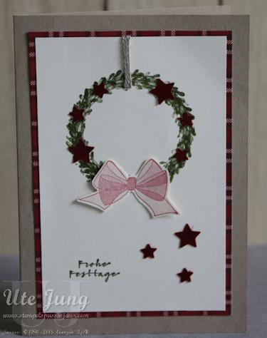 "Weihnachtskarte mit dem Stempelset ""Alles, alles Gute"""
